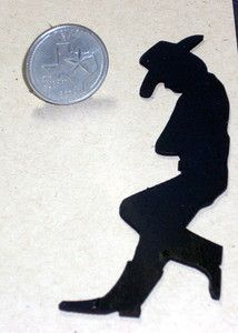 free Silhouette Cut Outs for Decorations | Miniature Garden Yard Cowboy Silhouette 1 12 Western Texas Ebay ...