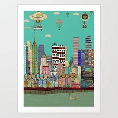 a colorful life  Art Print by bri.buckley - $23.00