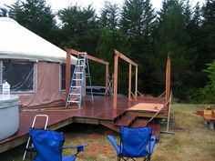 Great blog as they built a yurt for their Mama to live in - lots of thoughts and inspirations : Building Mom's Yurt - A Blog: