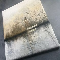 One Held Breath...Mixed Media Painting with Stitch | DL Rigter Artist & Maker
