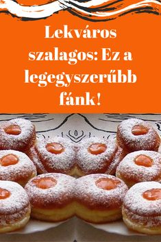 Hungarian Recipes, Fondant, Biscuits, Cake Recipes, Food And Drink, Sweets, Bread, Cookies, Baking