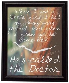 Doctor Who Amy Pond 11th Doctor Inspirational Art Print