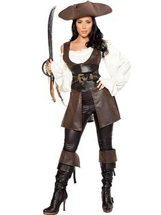 Women's Sexy Deluxe Swashbuckler | Wholesale Pirate Halloween Costumes for Sexy Costumes