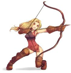 anime archer girl | Archers specialize in the use of bows and in general lack a great deal ...