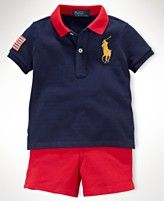 Ralph Lauren Baby Set, Baby Boys Polo and Shorts