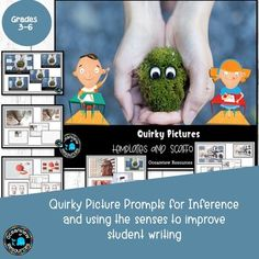 Quirky Stimulus Pictures with scaffolds for writing (Set Sensory Details, Scaffolding, Survival, Teaching, Writing, Casual, Pictures, Photos, Staging