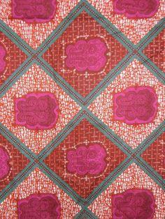 African Dutch Wax Fabric   African Dutch wax fabric via Etsy -
