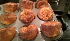 My first Yorkshire Puddings.  not bad!  They were yummy. Hmmm, what to try next?