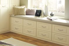 Built in wardrobes and fitted drawers help improve storage space and enhance your bedroom.