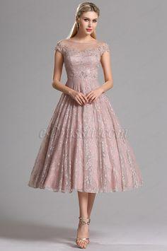 54007e93c66e eDressit Rosy Brown Illusion Neckline Lace Prom Cocktail Dress (04161746)  Šaty Pro Družičky