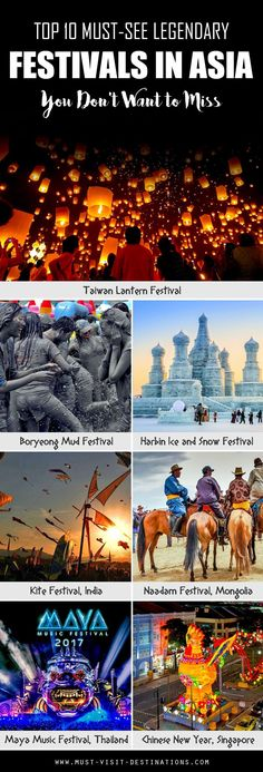 10 Must-see Legendary Festivals in Asia You Don't Want to Miss #culture #travel
