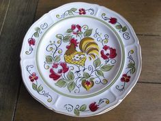 Mikasa Coq D'Oro 7085 Dinner Plates Rooster Motif Farmhouse Kitchen by ShabbyBrocante on Etsy