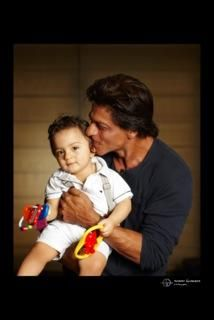 """""""Eid Al Adha Mubarak to everyone. May all have the happiness that life has to offer.The littlest one wishes you too."""" - Shah Rukh Khan with AbRam."""