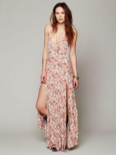 Somedays Lovin Daydream Split Maxi Dress http://www.freepeople.com/whats-new/daydream-split-maxi-dress/