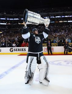 Who agreed to be our goaltender for the next 10 years? This guy... history in the making