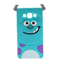 G530 Case,Galaxy Grand Prime Silicone Case,Tribe-Tiger 3D Cute Cartoon Blue Monster Soft Silicon Gel Rubber Case Cover Skin for Samsung Galaxy Grand Prime G530/G5308/G5306W/G530H/DS(Monster)