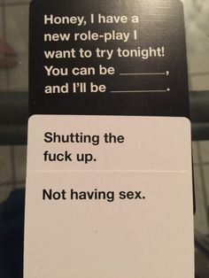 Instant Game Winners from Cards Against Humanity Funniest Cards Against Humanity, Funny Jokes, Hilarious, Twisted Humor, Funny Cards, Funny Pins, Laughing So Hard, My Guy, Just For Laughs