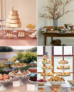 Mesas de postres y dulces en bodas