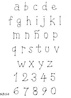 Alphabet Lettering - all 24 + numbers - see capital pin of same font Graffiti Lettering Fonts, Hand Lettering Alphabet, Doodle Lettering, Brush Lettering, Embroidery Alphabet, Embroidery Fonts, Lettering Tutorial, Different Lettering, Doodle Art Letters