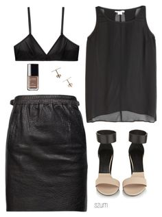 181 by szum on Polyvore featuring polyvore fashion style Helmut by Helmut Lang Isabel Marant Bodas Chloé Chanel clothing