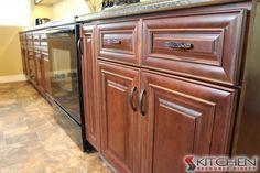 Handles...Hampton Maple Mahogany Photo Gallery | Cabinets.com by Kitchen Resource Direct