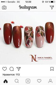 Winter Nail Art, Autumn Nails, Winter Nails, Xmas Nails, Red Nails, Christmas Nails, Nail Art Noel, Finger, Nail Art Techniques