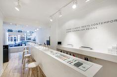 Display designs in Larsson Jennings Watch Store Soho, London