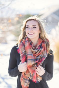 Perfect For Fall Oversized Blanket Scarf!