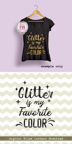 Glitter is my favorite color crafter craft by LoveRiaCharlotte