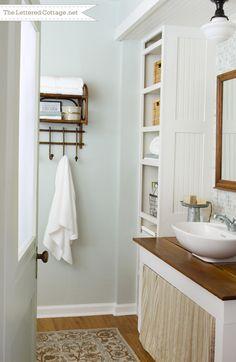 50 Amazing Beach Style Bathroom Design And Decor Ideas 37 Shelves Downstairs