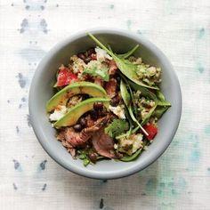Black Bean Quinoa Salad with Chipotle Steak   CookingLight.com