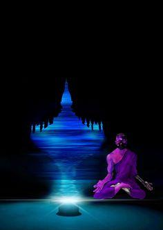 Astronomonk? Lao buddhist meditation in the far future. 55555 BCE. Lao horror and science fiction.