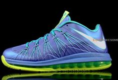 """7d178307fda Here is a detailed look via Sole Awesome at the upcoming Nike LeBron X Low  """"Sprite"""" Sneaker releasing in a month or so for a retail of 165 ."""
