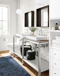 Portica Bathroom Vanity Bases with Top - Modern Bathroom Vanities - Modern Bath Furniture - Room & Board Bath Furniture, Bathroom Inspiration Modern, Bathroom Decor, Vanity, Modern Furniture, Countertop Decor, Modern Bathroom Vanity, Modern Baths, Bathroom Vanity Base