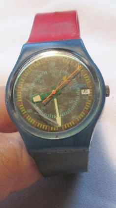 Men's 1986 Swatch Rotor Wrist Watch, New Battery! #Swatch #Casual