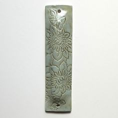 MEZUZAH Home Decor handmade mezuzah case clay gray by light4you