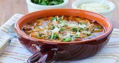 Slow Cooker Vegetarian Pasta e Fagioli Soup with Whole Wheat Orzo