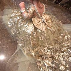 Items similar to Baptism Dress - Mini Bride Dress - Flower Girl Dress - sequin Dress - High to Low Dress - Big Bow Dress - Wedding Dress - Genesis by Zulett on Etsy Girls Lace Dress, Girls Pageant Dresses, Gowns For Girls, Pageant Gowns, Girls Party Dress, Baby Girl Dresses, Dress With Bow, Baby Dress, Flower Girl Dresses