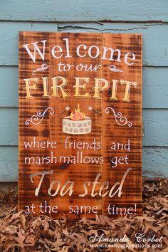 Pinspired Firepit Art - Life on Birch St.