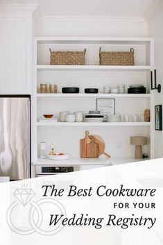 Cookware is an incredibly popular wedding registry category for a good reason. Creating a wedding registry is an amazing opportunity to either upgrade your cookware or start fresh. Because we understand how overwhelming it can be to sift through the seemingly endless cookware options, we've crafted a guide to help you hone in on the best pots and pans for your wedding registry. #weddingregistry #weddingplanning #withjoy Free Wedding, Plan Your Wedding, Wedding Tips, Perfect Wedding, Diy Wedding, Wedding Favors, Wedding Planning Websites, Wedding Crafts, Wedding Website