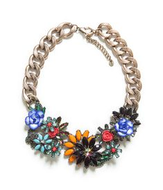 JEWELLED FLOWERS NECKLACE from Zara.. i'M OBSESS.. LOVE IT