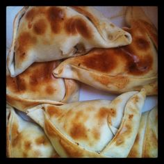 Empanadas muy chilenas.