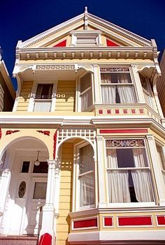 The 'Painted Lady' Victorian houses of San Francisco by coolthingoftheday by San Francisco Feelings