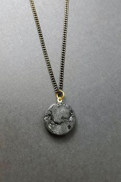#concrete #jewelry #schmuck #design #handmade #crystals #tourmaline #gemstones #black #dark #men #style #gold #betonschmuck