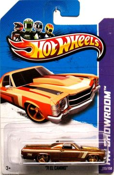 1971 Chevy El Camino Hot Wheels 2013 Showroom #233/250 SUPER Treasure Hunt #HotWheels #Chevrolet