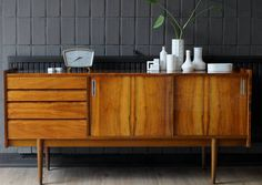 **Komoda PRL vintage retro lata 60/70te** Dream Apartment, Mid Century Design, Sweet Home, Art Deco, House Design, Cabinet, Retro, Furnitures, Modern