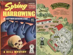 Spring Harrowing by Phoebe Atwood Taylor Dell Mapback Map Back Vintage Paperback Book