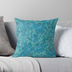 Teal Throw Pillows, Designer Throw Pillows, Arrow Art, Continuous Line Drawing, Triangle Pattern, Pillow Design, Colorful Decor, House Colors, Simple Designs