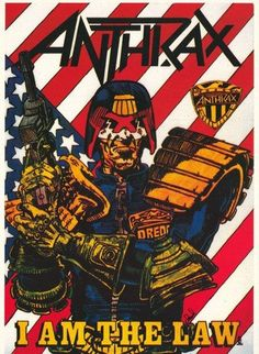 Anthrax I Am The law Rare Poster by VintagePosterPlace on Etsy