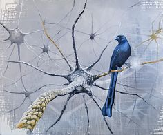 Neuronenvogel - Bird on a neurone - by Gunter Pusch